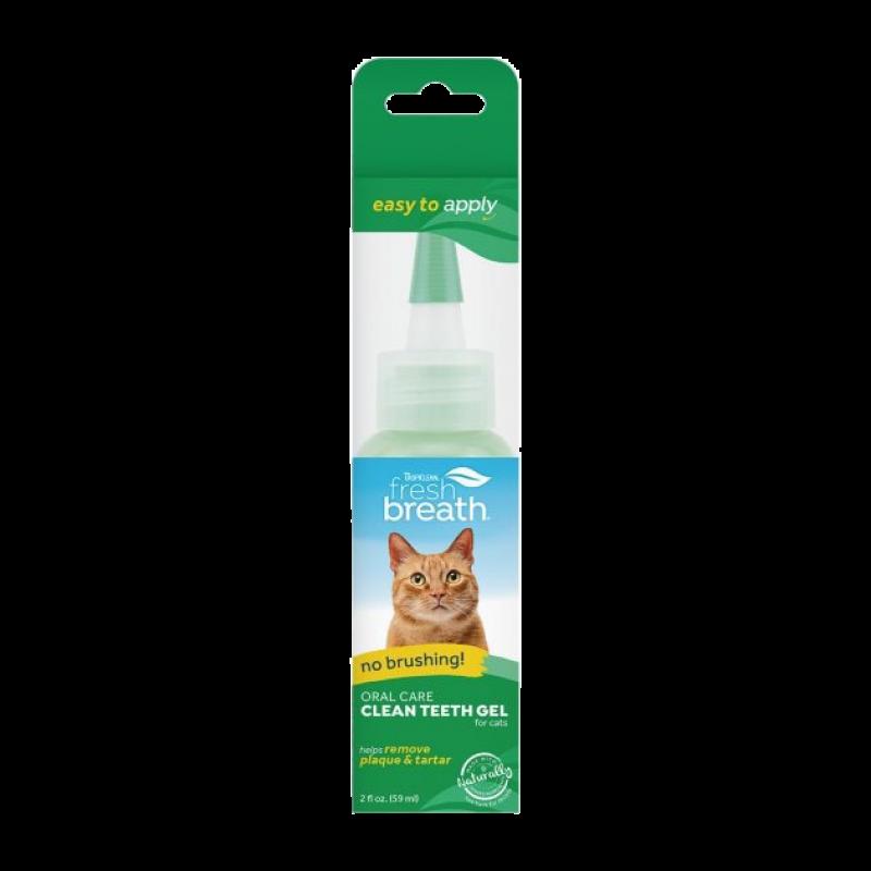 Гель для удаления налета и зубного камня у котов TropiClean - Clean Teeth Oral Care Gel for Cats